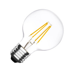 E27 LED bulb Dimmable Filament Globe G80 6W