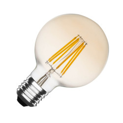 E27 LED bulb Dimmable Filament Planet Gold G95 6W