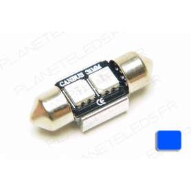 Ampoule Navette 32mm Bleu Anti-Erreur OBD 2 Leds