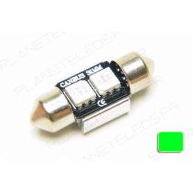 Ampoule Navette 32mm Verte Anti-Erreur OBD 2 Leds
