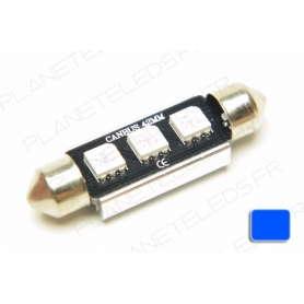 Ampoule Navette 41mm Bleu Anti-Erreur OBD 3 Leds
