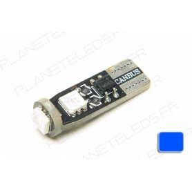 Ampoule T10 Bleu Anti-Erreur OBD 3 Leds