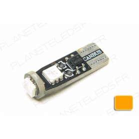 Ampoule T10 Orange Anti-Erreur OBD 3 Leds