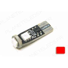 Ampoule T10 Rouge Anti-Erreur OBD 3 Leds