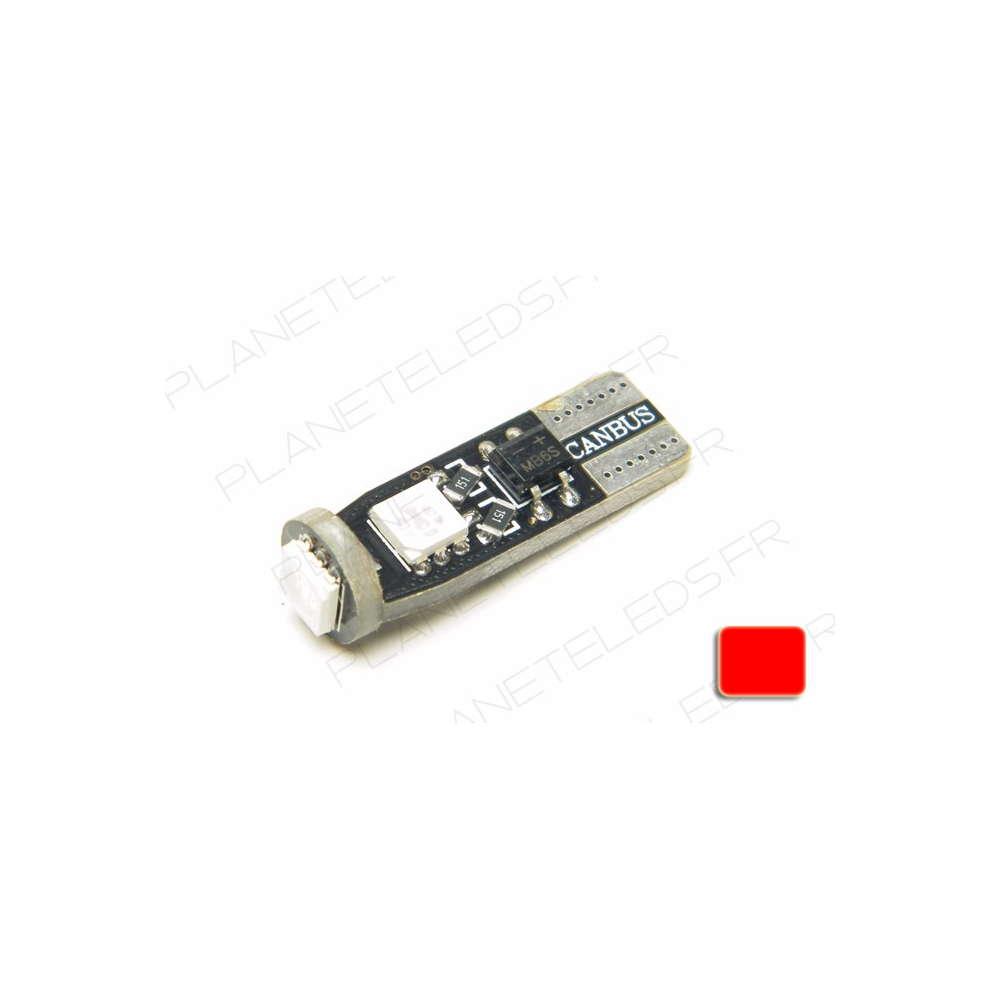 Ampoule led t10 rouge anti erreur obd 3 leds voiture auto - Ampoule led rouge ...
