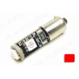 Ampoule Ba9s Rouge Anti-Erreur OBD 3 Leds