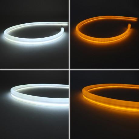Bande led Clignotant séquentiel dynamique blanc + orange