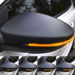 Clignotants à défilement LED pour rétroviseurs VW Scirocco