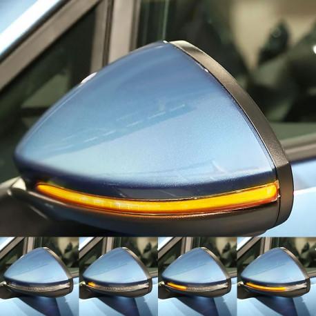 Clignotants défilants LED pour rétroviseurs VW Golf 7