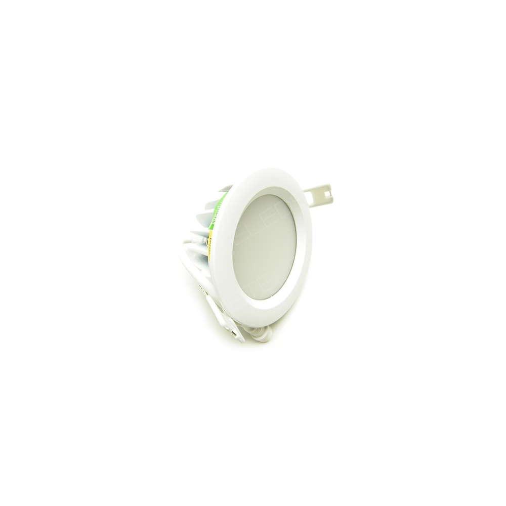 spot encastrer dimmable tanche 7w 530lm blanc chaud 90 mm exterieur. Black Bedroom Furniture Sets. Home Design Ideas