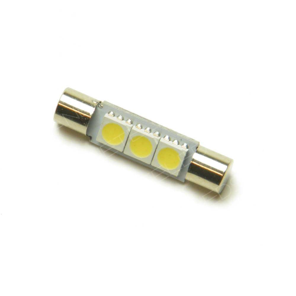 ampoule navette fusible 3 leds smd 5050 29 mm voiture auto. Black Bedroom Furniture Sets. Home Design Ideas