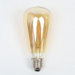 """Ampoule LED """"Félicie"""" E27 ST64 filament 4W Compatible Variateur"""