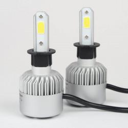 Ampoule à led pour voiture et moto : Kit Ampoules LED H3 Haute puissance Ventilé