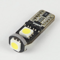 T10 White LED bulb SuperCanBus 3 Leds