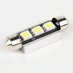 LED Festoon Bulb FIRST Canbus 3 White Leds 42mm