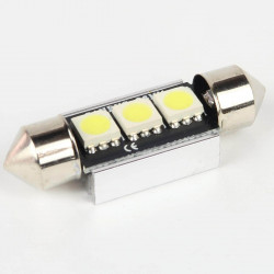 LED Festoon Bulb FIRST Canbus 3 White Leds 36mm