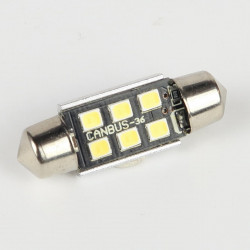 Festoon base Led Bulb C5W Canbus 6 Leds 10-30V