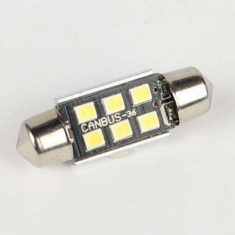 Ampoule LED Navette C5W 36mm Canbus 6 leds 10-30V