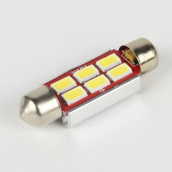 Festoon Bulb White LED Slim C5W 6 LED 5730 OBD CANBUS 39 mm
