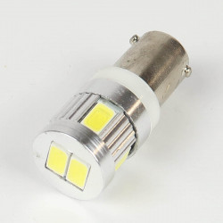 BAX9S/H6W LED Bulb Canbus 6 White LEDs 12-24 V
