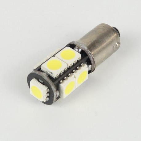 Ampoule Led BAX9S/H6W Anti-Erreur OBD 9 Leds Blanches