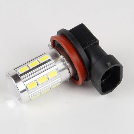 Eclairage LED pour voiture et moto : Ampoule H11 Blanche CANBUS 21 LEDs 5730