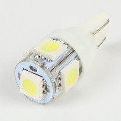Ampoule T10 5 Leds SMD5050 Blanches FIRST
