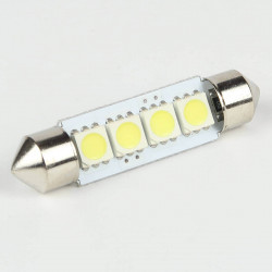 Festoon Base C5W LED Bulb SMD5050 4 LEDs 41mm FIRST