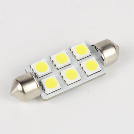 Ampoule Led Navette C5W 6 Leds 41 mm