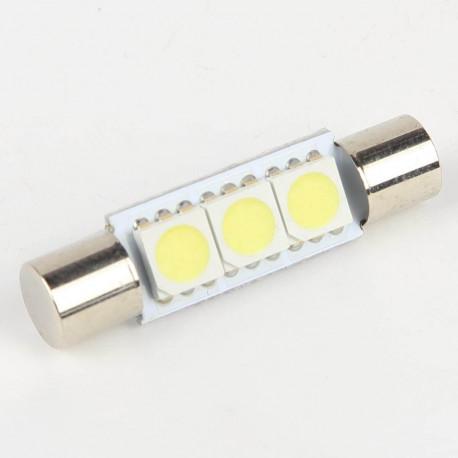 Eclairage LED pour voiture et moto : Ampoule Navette Fusible 3 Leds SMD 5050 29 mm