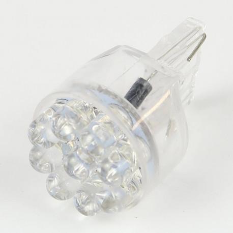 Eclairage LED pour voiture et moto : Ampoule Led T20 - W21W - 9 Leds Blanches