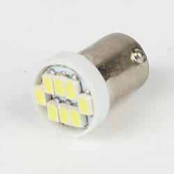 Led bulb BA9S-T4W 8 Led SMD White 6V