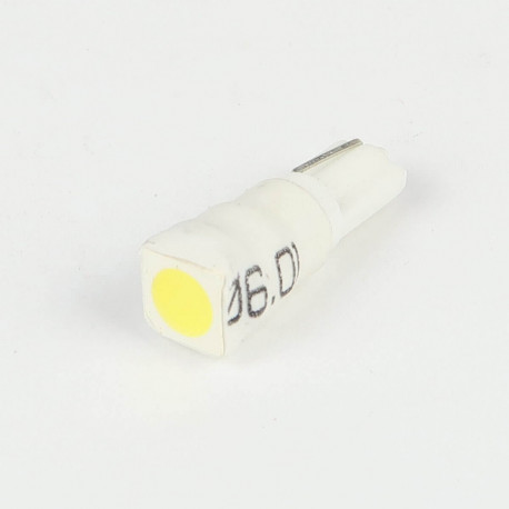 Eclairage LED pour voiture et moto : Ampoule Led T5 - W1.2W - 1 Led SMD5050 Blanche