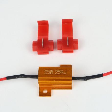 Accessoires LED pour voiture et moto : Résistance Anti-Erreur ODB 25W Pré-Cablé