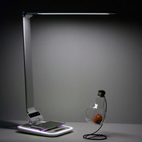 lampe de bureau led avec chargeur sans fil int gr livraison gratuite. Black Bedroom Furniture Sets. Home Design Ideas