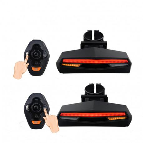 Accessoires LED pour vélo et running : Feu de vélo arrière LED Clignotants/Stop