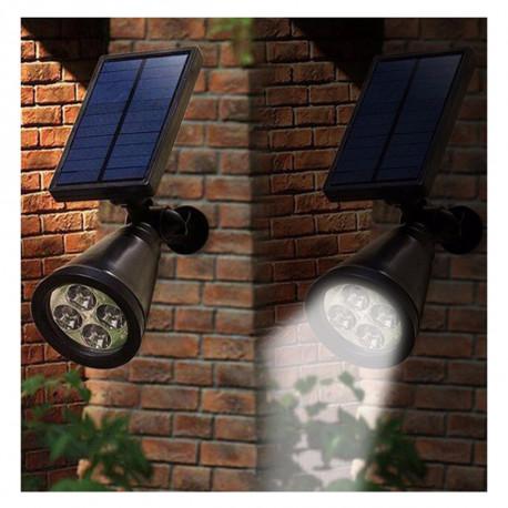Lampes solaires pour jardin : Spot LED solaire crépusculaire à planter