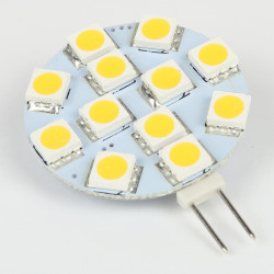 Ampoule à LED pour maison et jardin : Ampoule LED G4 12 LEDS Blanc chaud