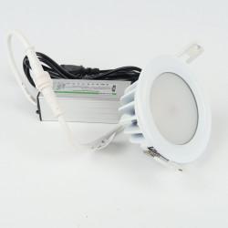 Spot à Encastrer dimmable étanche 7W 530Lm Blanc Chaud 90 mm