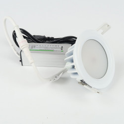 Waterproof Recessed Downlight 7W 530Lm Warm White 90mm Dimmable