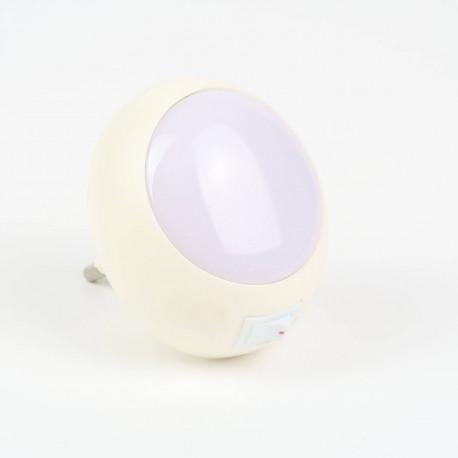 Veilleuse LED pour prise murale avec interrupteur