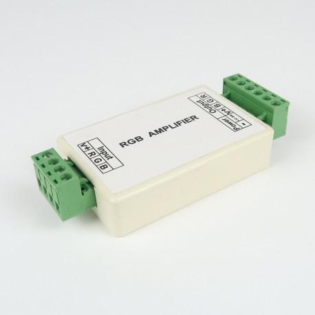 Contrôleurs et dimmers pour installation LED : Répéteur RGB 3*4A à Bornier