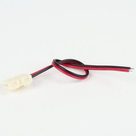 Accessoires pour bande LED : Connecteur à Câble Mono Couleur (Pour bande classique)