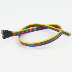 Connecteur Femelle à Câble RGB (Pour bande étanche)
