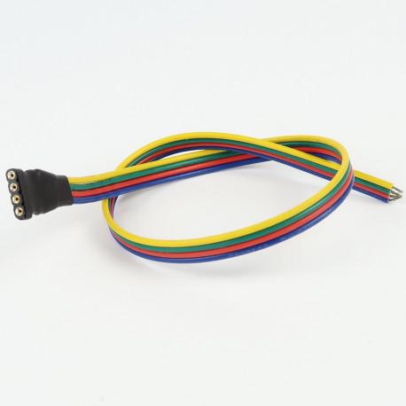 Accessoires pour bande LED : Connecteur Femelle à Câble  RGB (Pour bande étanche)