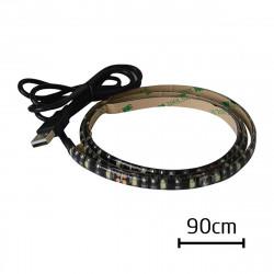 Ruban LED 90 cm USB adhésif
