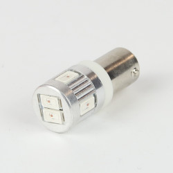 Ampoule LED BAY9S/H21W Orange Canbus 6 leds 12-24V