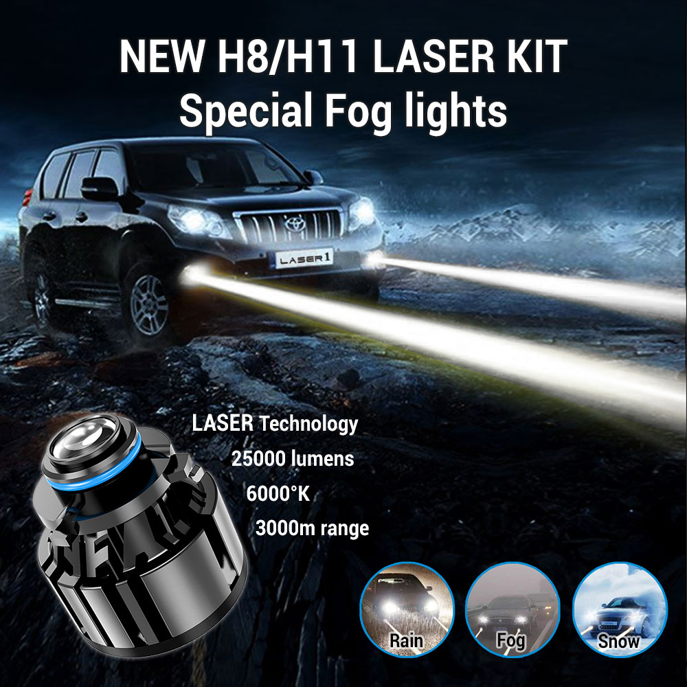 H8/H11 LASER kit fog lights Off-Road 25000 Lm