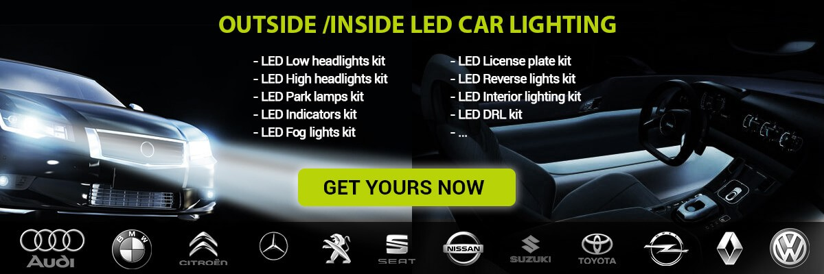 Outside and inside led car lighting